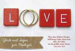 Faltkarte: Glück und Segen zur Hochzeit