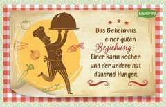 Kräuter-Dip-Postkarte - Das Geheimnis