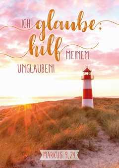 "Jahreslosung 2020 - Postkarten ""Leuchtturm"" 12 Stück"