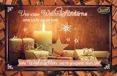 Schokokarte - Viele schöne Weihnachtssterne