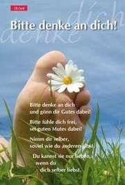 CD-Card: Bitte denke an dich - Motiv  Wiese
