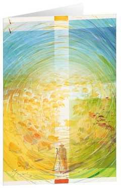 Der gute Hirte - Kunst-Faltkarten mit Text (5 Stück)