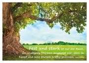 Fest und stark ist nur ein Baum... - Postkarte