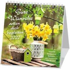 Gute Wünsche sollen dich begleiten 2022 - Postkartenkalender