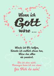 "Postkarte ""Wenn ich Gott wäre ..."" - 10 Stk."
