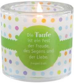 """Windlicht LichtMomente """"Taufe - Fest der Freude"""""""